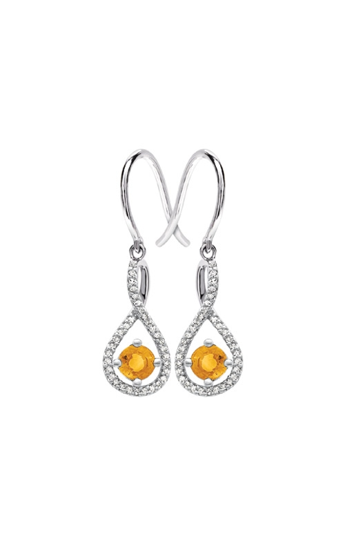 Albert's Sterling Silver Diamond Citrine Earrings E6232-CIT-SS product image