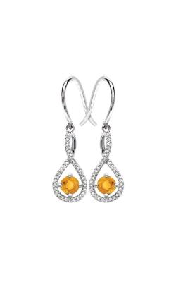 Albert's Sterling Silver Diamond Citrine Earrings E6232-CIT-SS product image