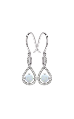 Albert's Sterling Silver Diamond Opal Earrings E6232-OPAL-SS product image