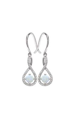 Albert's Sterling Silver Diamond Opal Earrings E6232-OPAL-SS product image