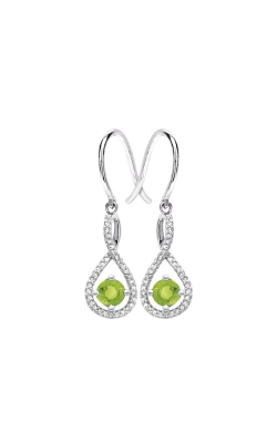 Albert's Sterling Silver Diamond Peridot Earrings E6232-PER-SS product image