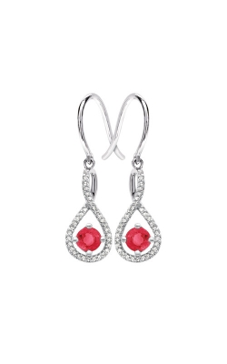 Albert's Sterling Silver Diamond Ruby Earrings E6232-RUBY-SS product image