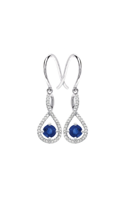 Albert's Sterling Silver Diamond Blue Sapphire Earrings E6232-SAPH-SS product image