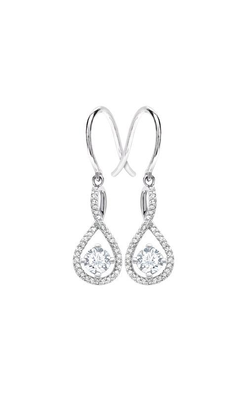 Albert's Sterling Silver Diamond White Topaz Earrings E6232-WHTZ-SS product image