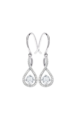 Albert's Sterling Silver Diamond White Topaz Earrings E6232-WHTZ-SS product image