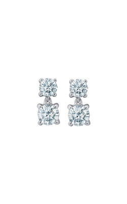 Albert's 14k White Gold 1/2ctw 2 Stone Diamond Earrings EF-4971B56W4S product image