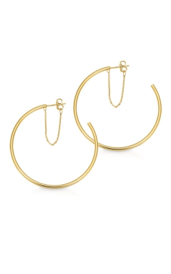 Albert's 14k Yellow Gold 45mm Hoop Earrings with Chain EHP2X45CHN product image