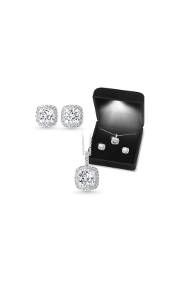 Albert's Sterling Silver CZ Necklace And Earrings Gift Set EP10001-SSW product image