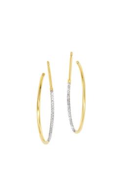 Albert's 14k Yellow Gold 1/8ct Diamond Hoop Earrings ER10037-4YSC product image