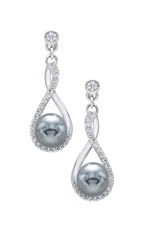 Albert's Silver Pearl Drop Earrings ER10132-SSW product image
