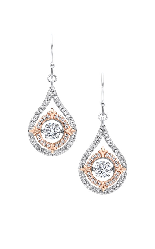 Albert's Silver and Rose Drop Earrings ER102281 product image
