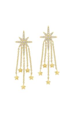 Albert's 14k Yellow Gold 1/4ctw Star Dangle Earrings ER10236-4YB product image