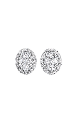Albert's 14k White Gold 1/2ctw Oval Diamond Earrings ER10251-4WC product image