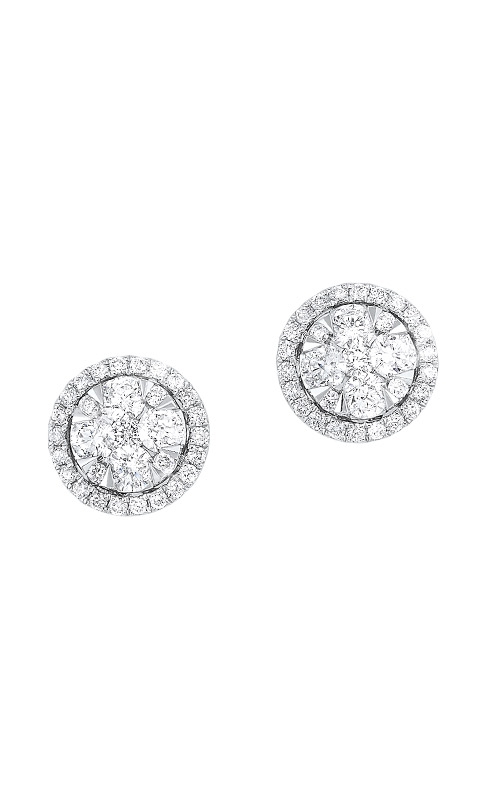 Albert's 14k White Gold Round Diamond Earrings ER10255-4WC product image