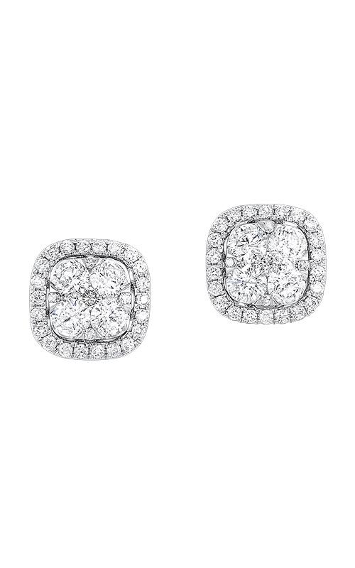 Albert's White Gold 1/2ctw Cushion Diamond Earrings ER10255-4WC product image