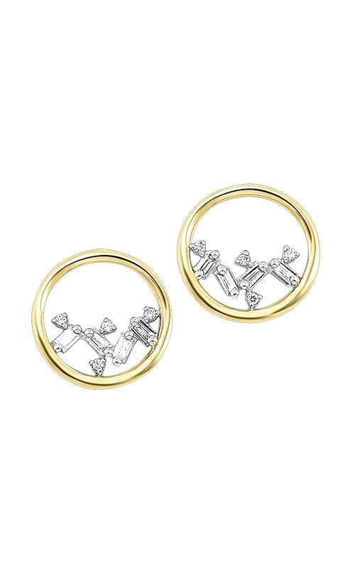 Albert's 14k Yellow Gold 1/14ctw Baguette Circle Earrings ER10298-4YCSC product image