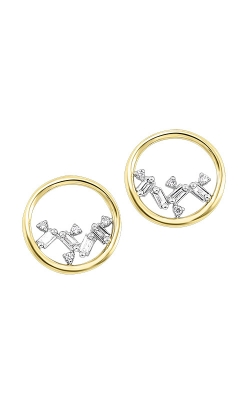 Albert's 14k Yellow Gold 1/14ctw Baguette Circle Earrings ER10298-4YCSC product image