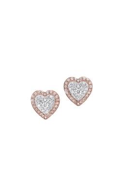 Albert's 14k White and Rose Gold 1/4ctw Diamond Heart Earrings ER10301-4PDSC product image