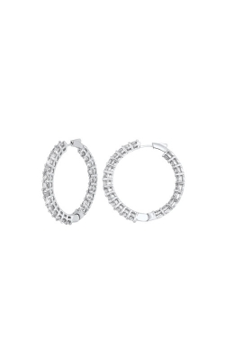 Albert's 14k 1ctw Round Diamond Hoop Earrings ER10312-4WF product image