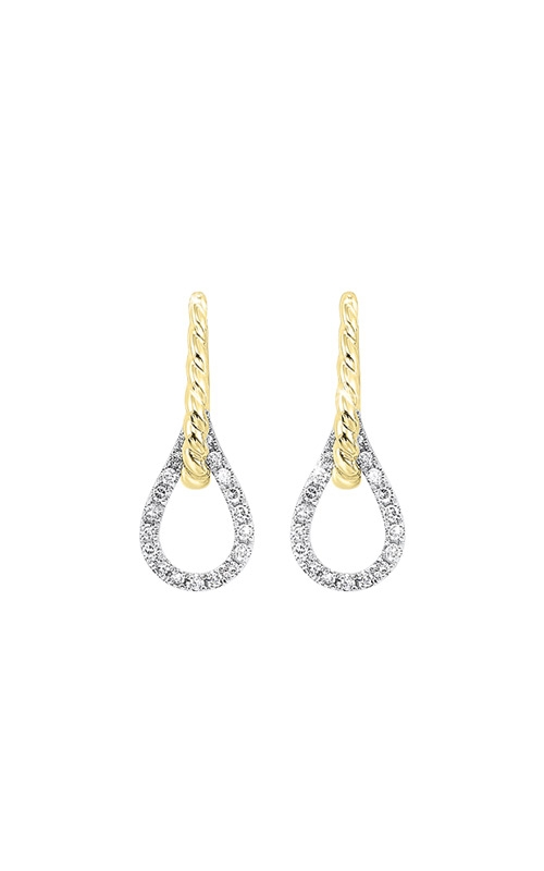 Albert's 14k White and Yellow Gold 1/10ctw Diamond Earrings ER10472-4WYC product image