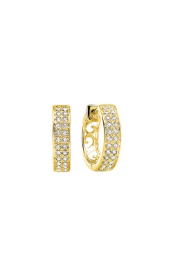 Albert's 14k Yellow Gold 1/4ctw Diamond Hoop Earrings ER10497-4YD product image