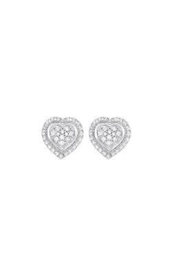 Albert's Sterling Silver 1/5ctw Diamond Heart Earrings ER10499-SSSC product image