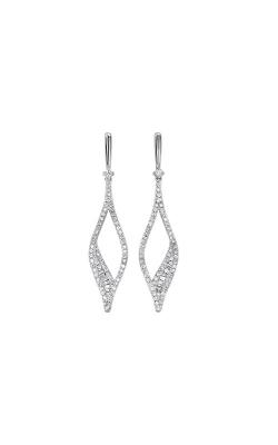 Albert's 14k White Gold 3/4ctw Diamond Dangle Earrings ER10501-4WC product image