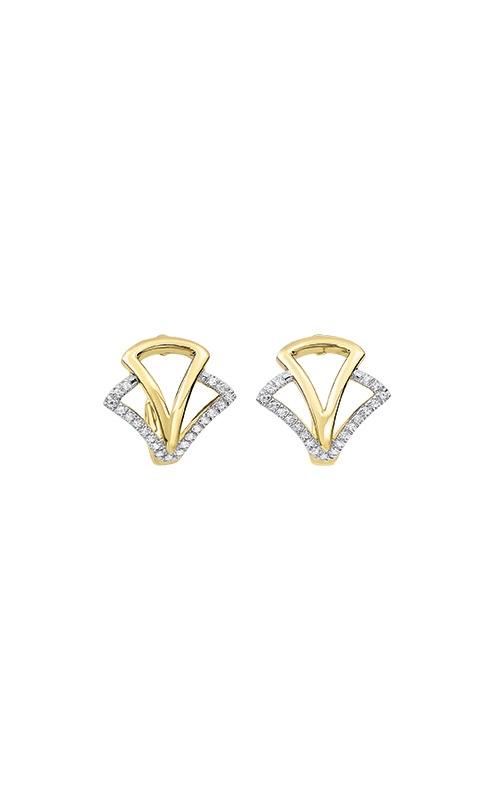 Albert's 14k Yellow Gold 1/8ctw Diamond Earrings ER10511-4YD product image