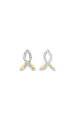 Albert's 14k Yellow Gold 1/8ctw Diamond Earrings ER10512-4YD product image