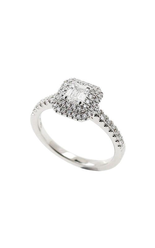 Albert's 14k White Gold .69ctw Emerald Diamond Egagement Ring ER11000-.39EM product image