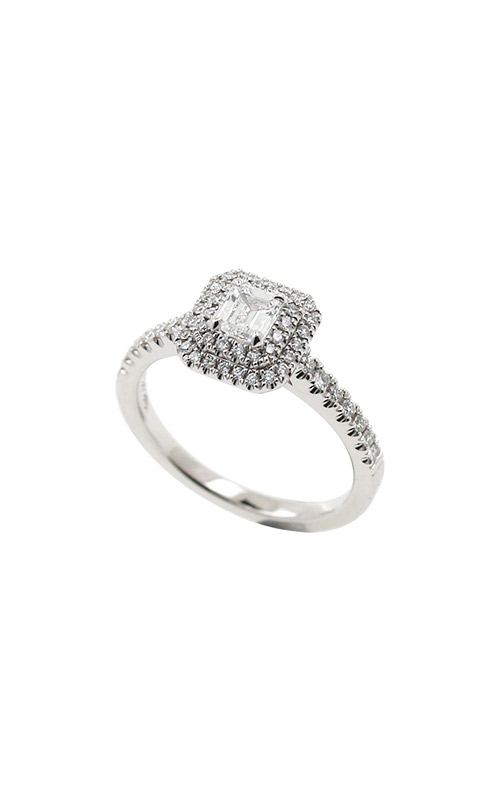 Albert's 14k White Gold .62ctw Round Halo Engagement Ring ER11000-CR032C-S product image