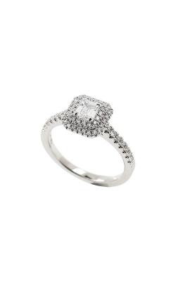 Albert's 14k White Gold .62ctw Round Halo Engagement Ring ER11000-CR032C-S product image