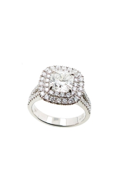 Albert's 14k White Gold 2.44ctw Cushion Diamond Engagement Ring ER11028-C152A-S product image