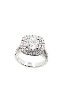 Albert's 14k White Gold 2.44ctw Cushion Diamond Engagement Ring ER11028-C152A-S product image