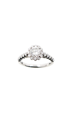 Albert's 14k White Gold 1.19ctw Round Diamond Halo Engagement Ring ER11094-R072A product image