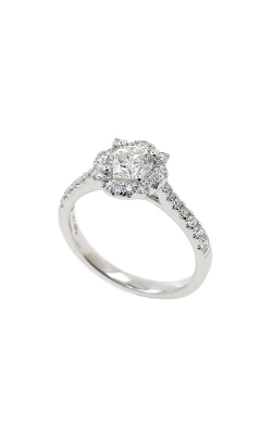 Albert's 14k White Gold .90ctw Round Diamond Halo Engagement Ring ER11102-0.55BR product image