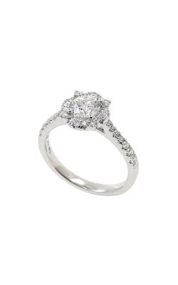 Albert's 14k White Gold .90ctw Round Diamond Halo Engagement Ring ER11102-0.55BR product image