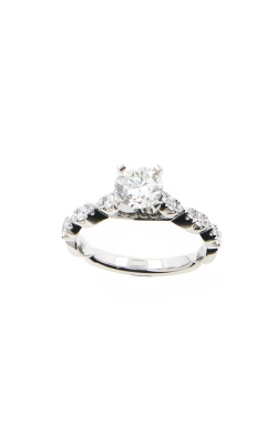 Albert's 14k White Gold 1.12ctw Round Diamond Engagement Ring ER12016-R072A product image
