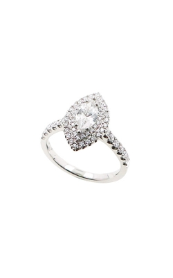 Albert's 14k White Gold 1.23ctw Marquise Halo Engagement Ring ER12046-M062A product image