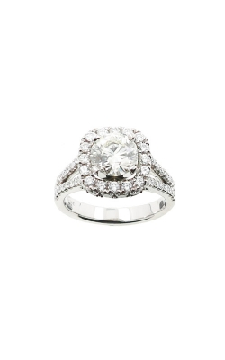 Albert's 14k White Gold 2.45ctw Round Halo Engagement Ring ER12148-CR132A product image