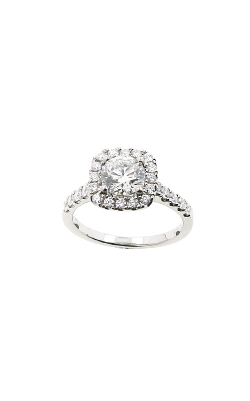 Albert's 14k White Gold 1.48ctw Round Diamond Halo Engagement Ring ER12162-CR102A-S product image