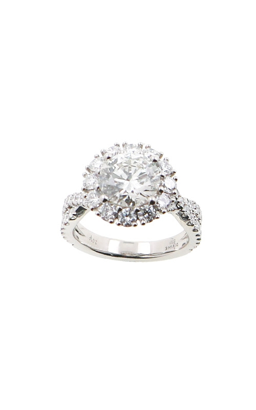 Albert's 14k White Gold 3.25ctw Round Halo Engagement Ring ER12208-R202A product image