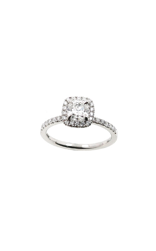 Albert's 14k White Gold 1.00ctw Cushion Halo Engagement Ring ER12232-C072A product image