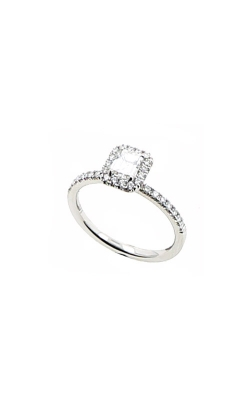 Albert's 14k White Gold 1.10ctw Cushion Diamond Halo Engagement Ring ER12232-C082A product image