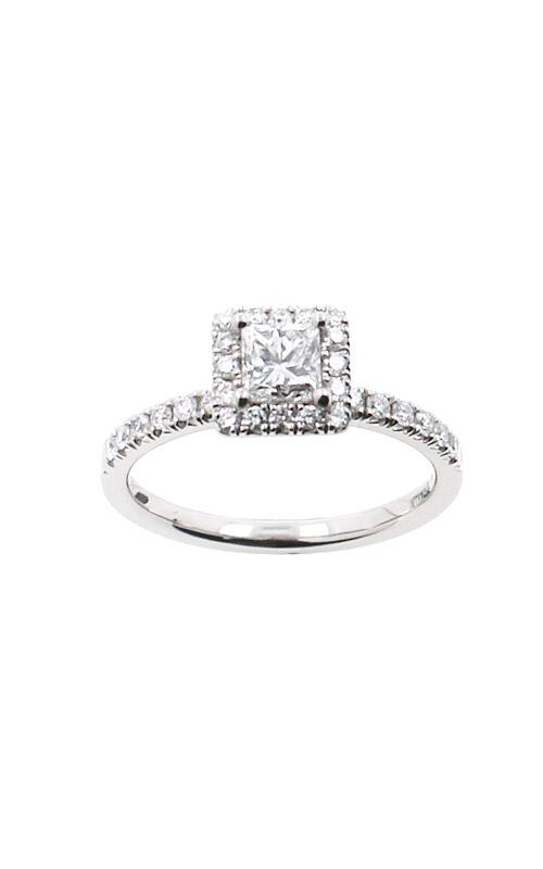 Albert's 14k White Gold .86ctw Princess Cut Diamond Engagement Ring ER12232-P052A product image