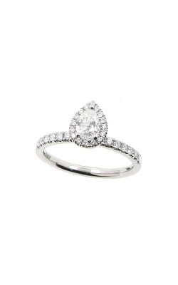 Albert's 14k White Gold .67ctw Pear Halo Engagement Ring ER12232-PS032A product image
