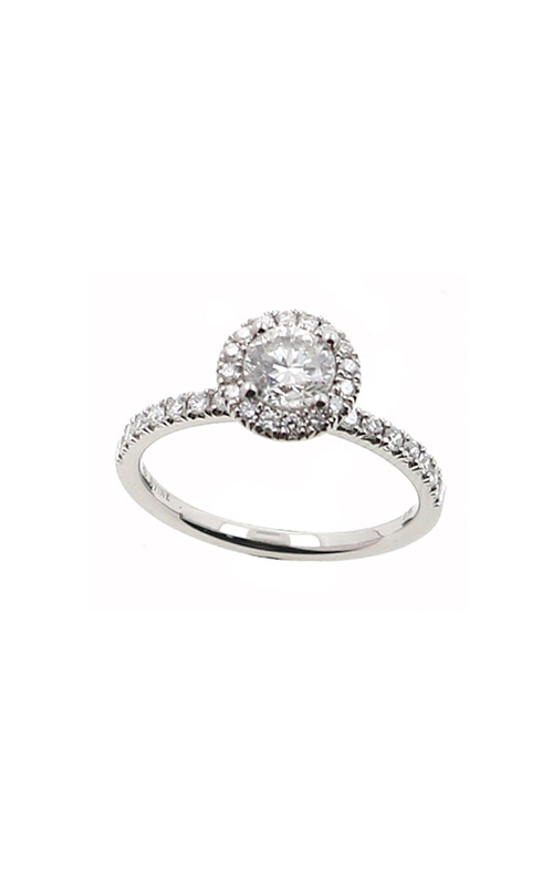 Albert's 14k White Gold .90ctw Round Diamond Halo Engagement Ring ER12232-R052A product image