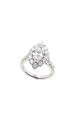 Albert's 14k White Gold 3.07ctw Marquise Halo Diamond Engagement Ring ER12234-M162A product image