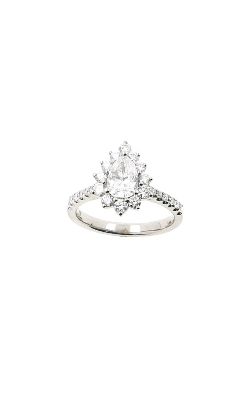 Albert's 14k White Gold 1.37ctw Pear Halo Engagement Ring ER12240-PS072A product image