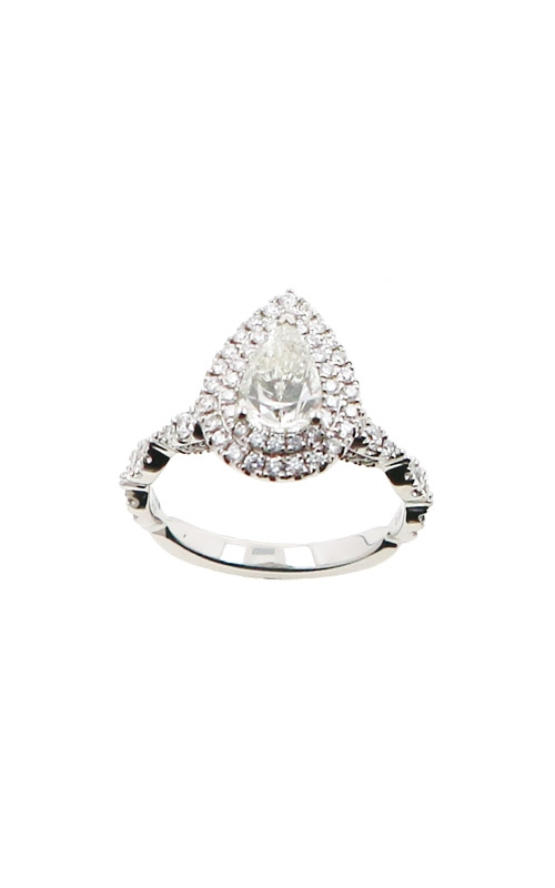 Albert's 14k White Gold 1.39ctw Pear Halo Engagement Ring ER12254-PS082A product image
